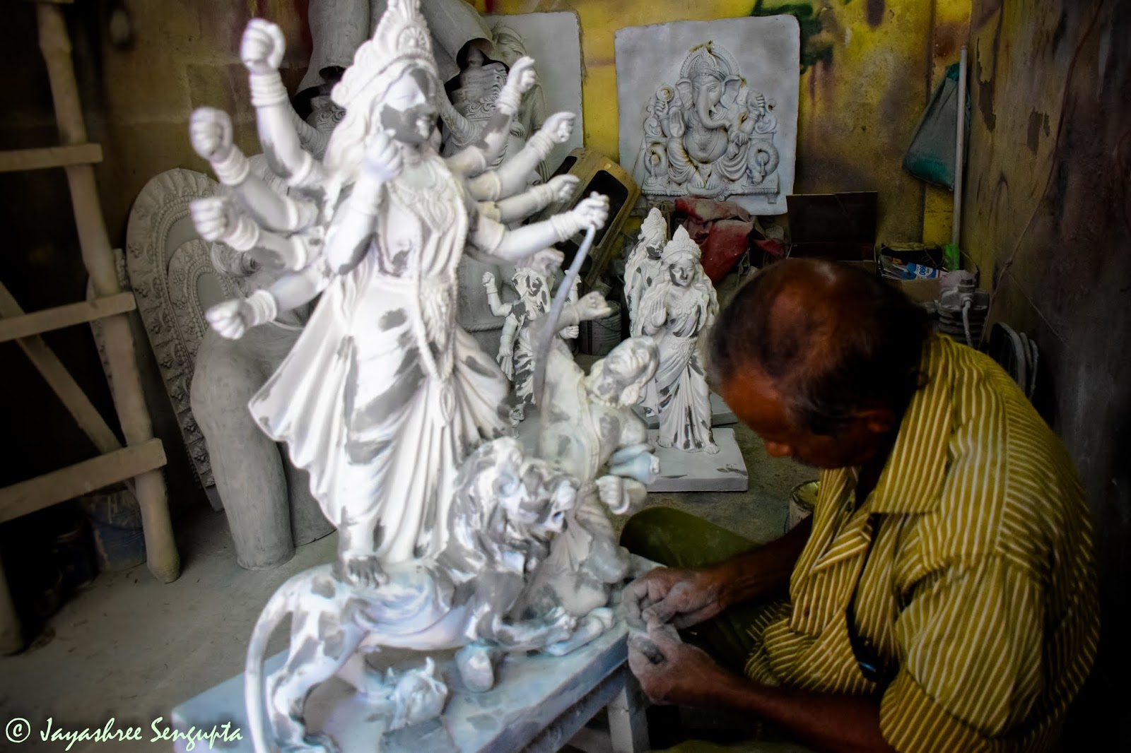 The mini idols in the making in Kumortoli of Kolkata