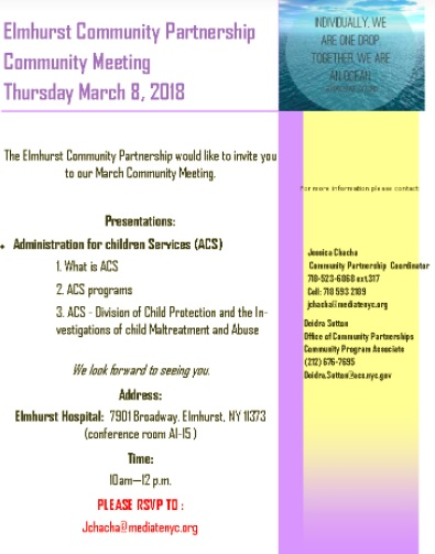 Elmhurst Community Partnership Program Ecp Events