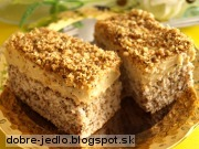Orechovo-karamelový zákusok - recept