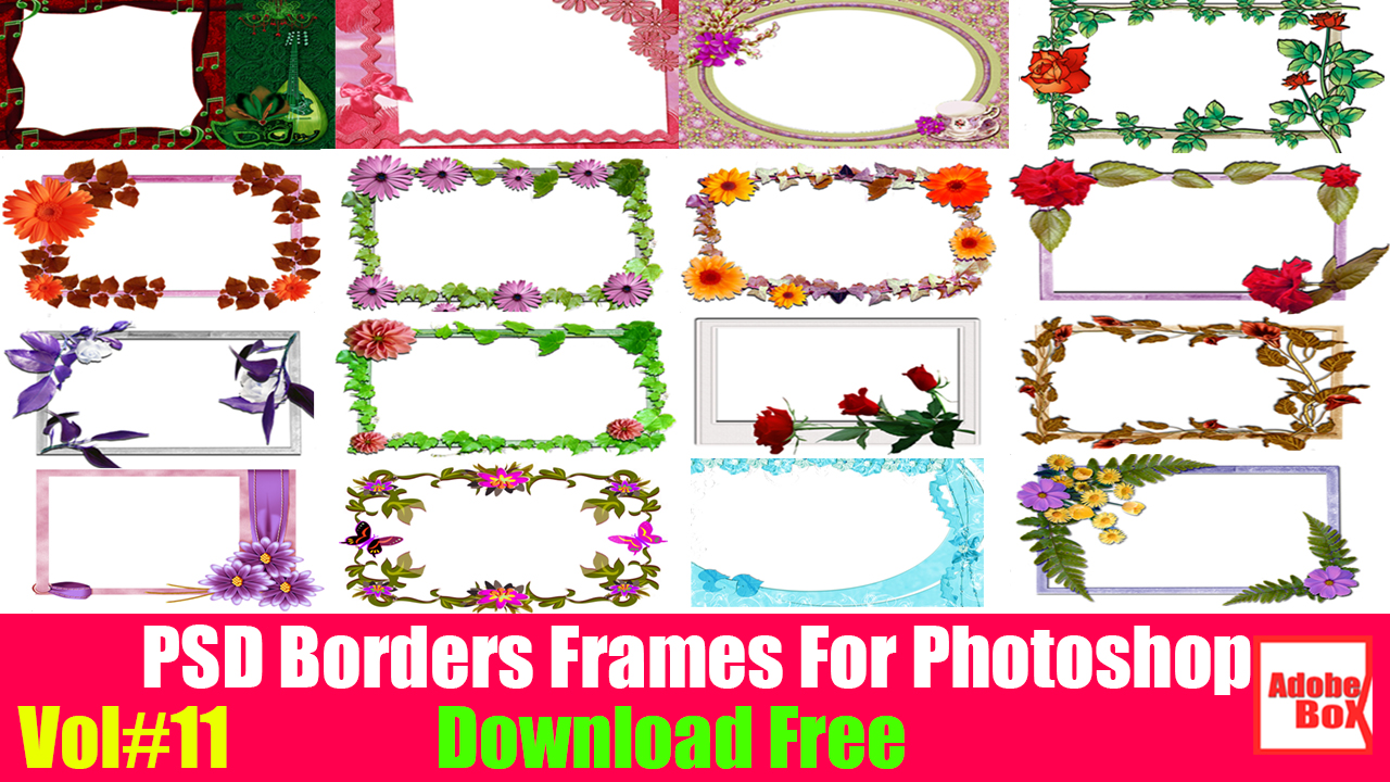 PSD Borders Frames For Photoshop Download Free by Adobe ...