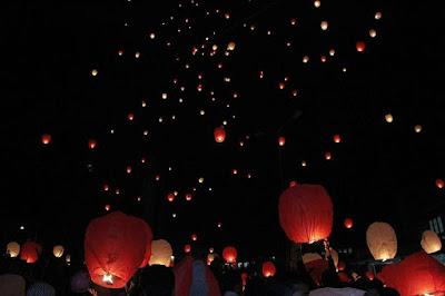 foto festival 1000 lampion kota batu