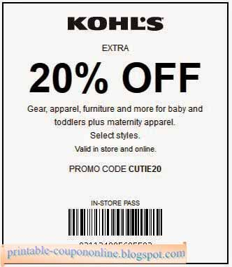 Kohls coupons printable in store 2018