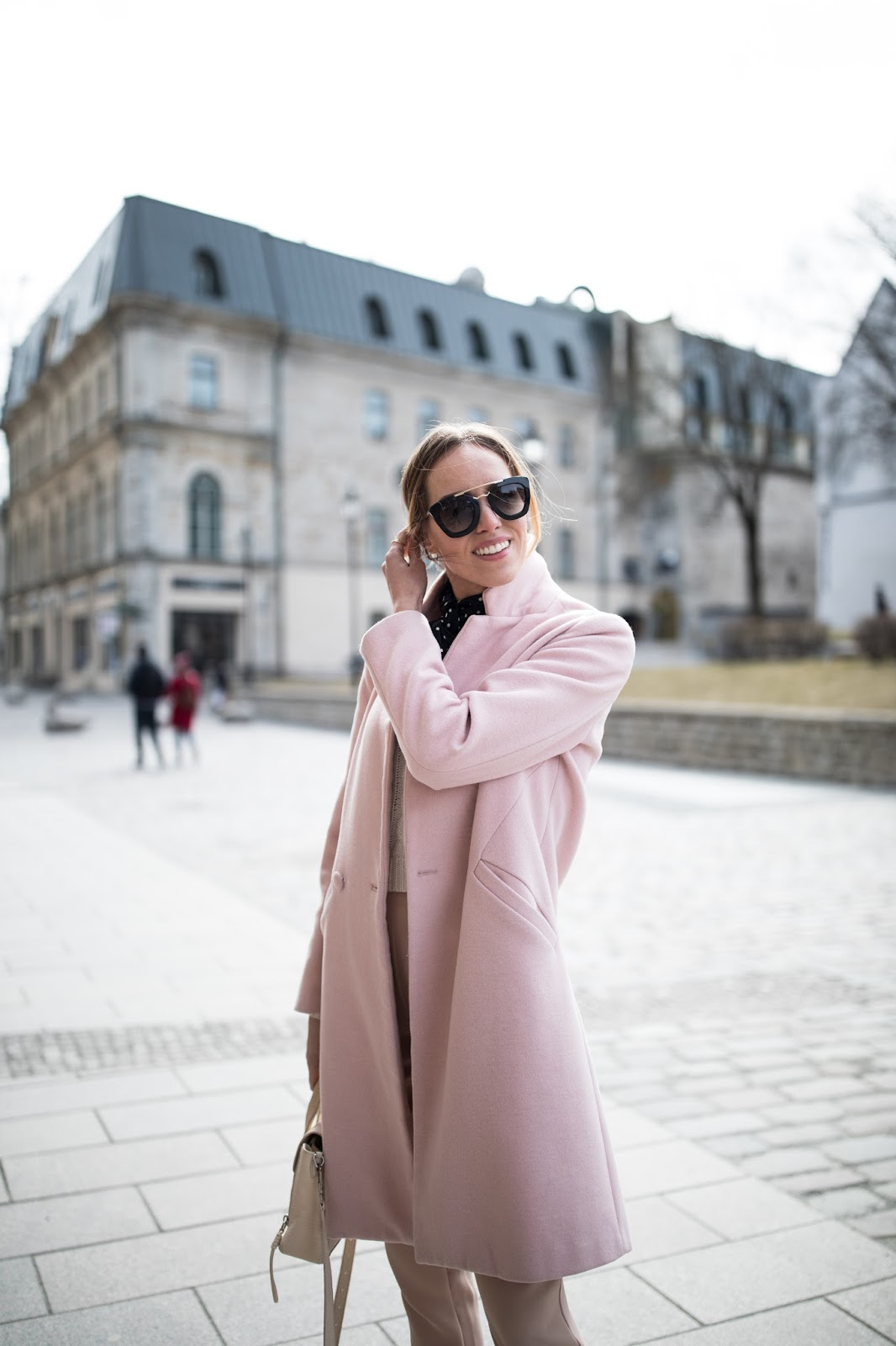pink coat fashion