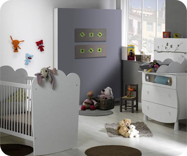 chambre de b b unisex. Black Bedroom Furniture Sets. Home Design Ideas