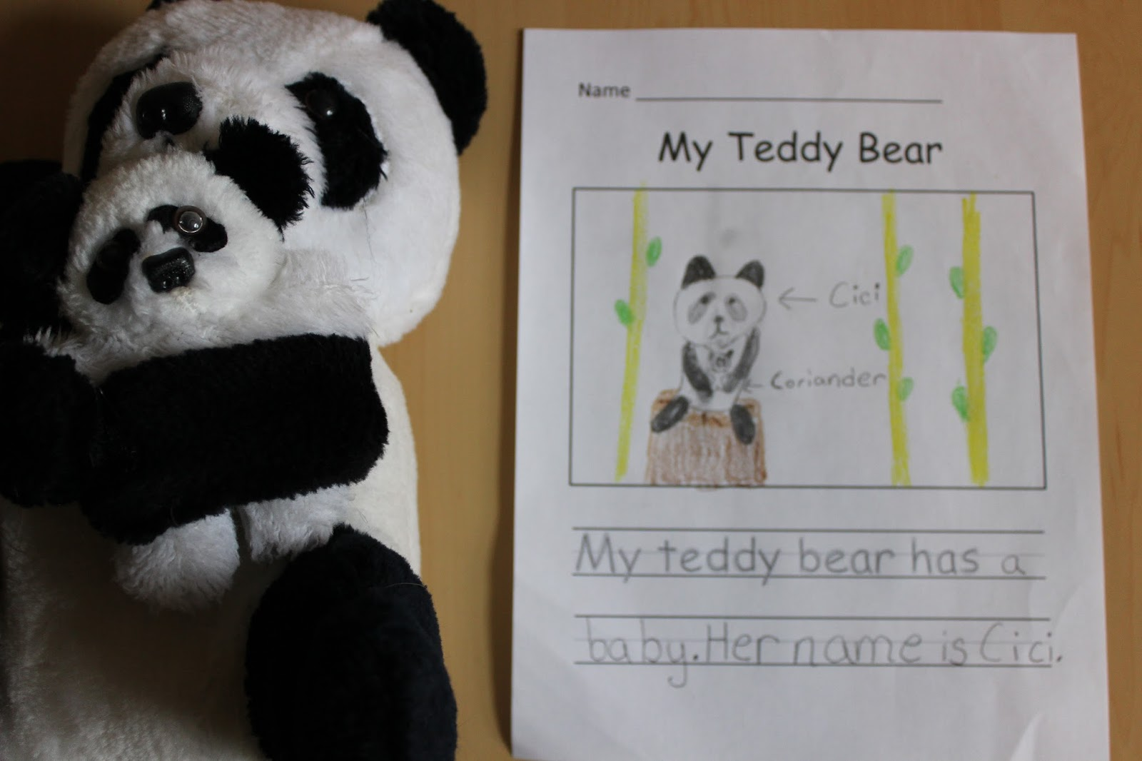 The Educators Spin On It Teddy Bear Writing Activity For Kids