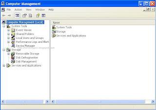 Computer Management Windows XP
