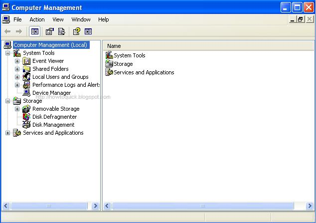 How To Access Computer Management In Windows XP