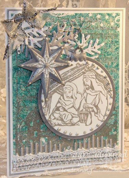 Our Daily Bread Designs, Nativity, Snowflake Star, O Little Town of Bethlehem, Splendorous Star, Bonus Shining Star, Beautiful Borders, Matting Circles, Circle Ornaments, Fancy Foliage, Christmas Paper Collection 2014, designer-Robin Clendenning