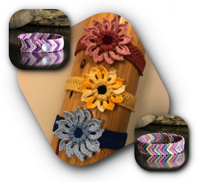 crochet flower and friendship bracelets