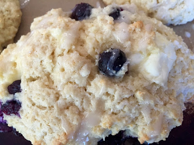 Blueberry Cream Cheese Scones, shared by Living on Cloud Nine at The Chicken Chick's Clever Chicks Blog Hop