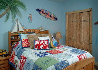 decorar dormitorio tema playa