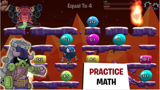 math is a monster In this free online math game, students will learn about addition, grouping, combinations and decimals as they drive monster kids to school.