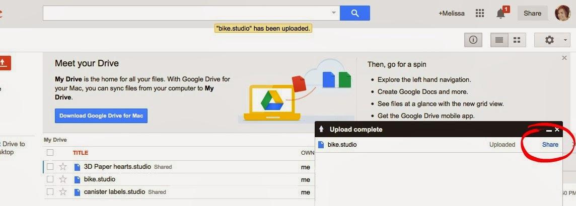 Share, Silhouette Studio, files, Silhouette tutorial, Google Docs