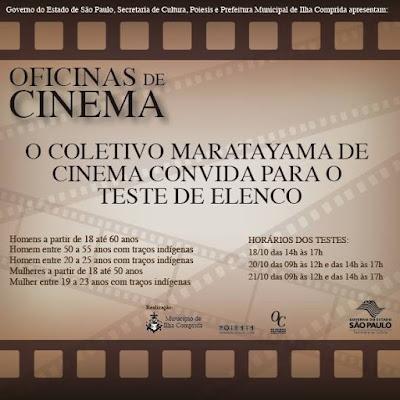 Oficinas de cinema da Ilha convidam homens e mulheres para testes de elenco