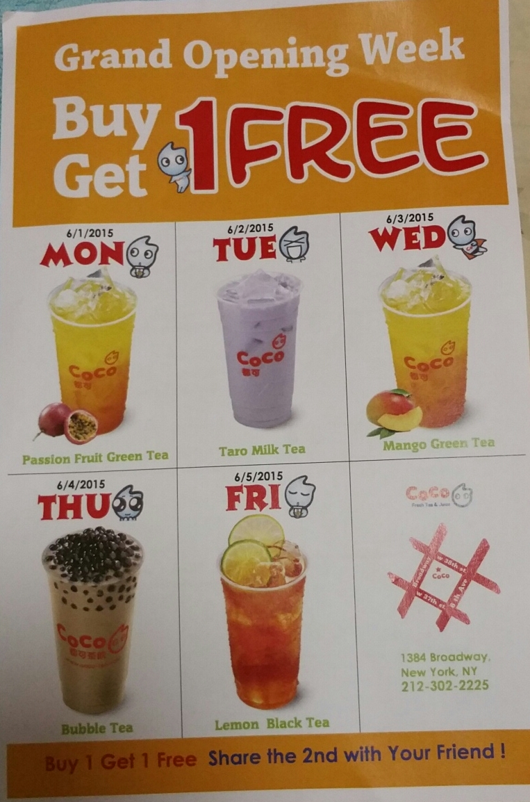 Terresa's Steals and Deals! =): CoCo Fresh Tea & Juice Grand