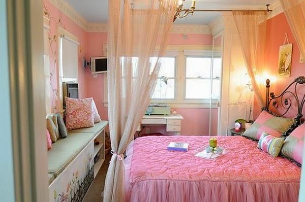 cuarto rosa para adolescente