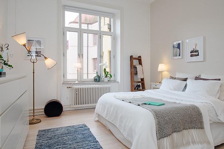 dormitorio con estores