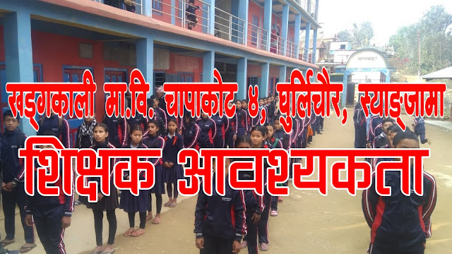 Teacher Wanted on Khadgakali Secondary School