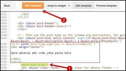 add your adsense code here