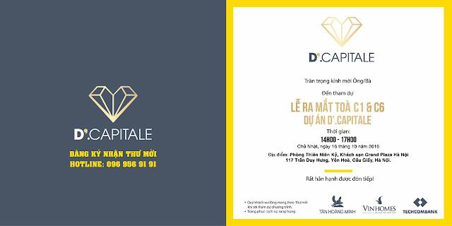 Thư mời sự kiện dự án D Capitale Trần Duy Hưng