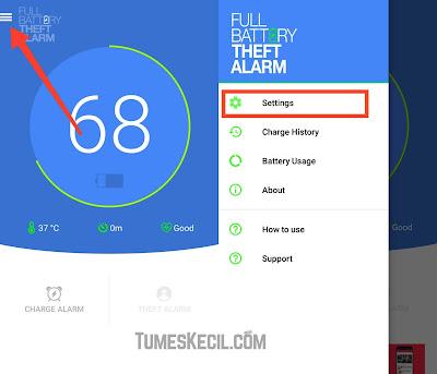 cara membuat alarm saat baterai hp penuh