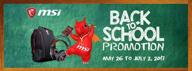 MSI Fires up Back to School Promotion