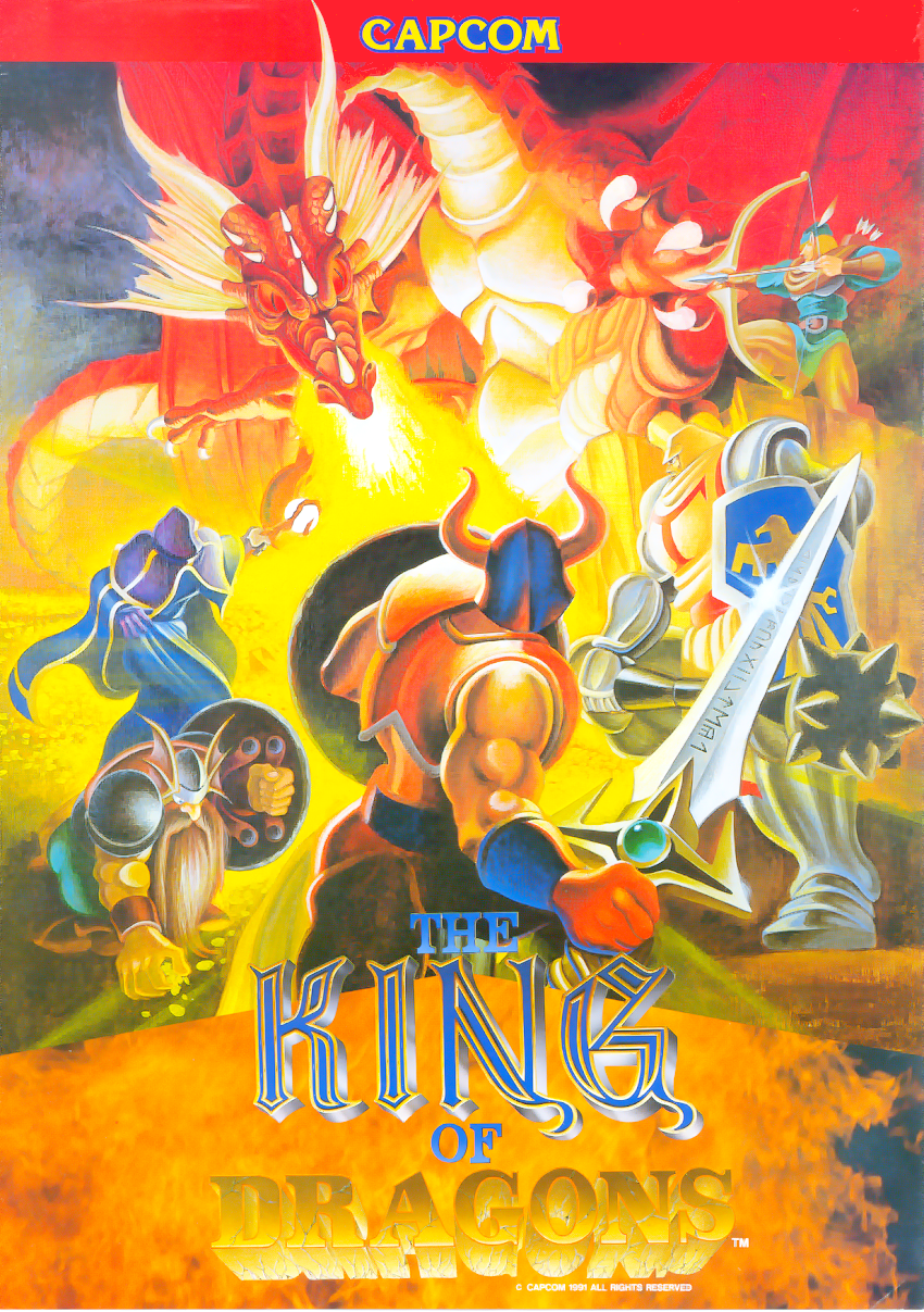 The King of Dragons+arcade+game+retro+beat'em up+portable+art+flyer