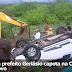 Carro com prefeito Gerlásio capota na CE-362 no Campo Novo