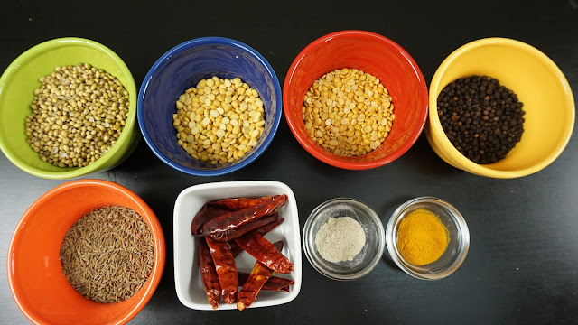 Ingredients-for-Rasam-Powder