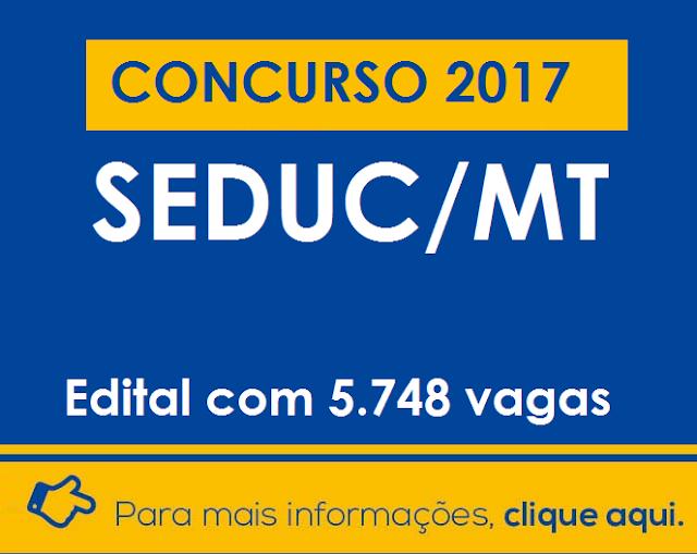 Concurso Seduc MT - Secretaria de Educação do Mato Grosso
