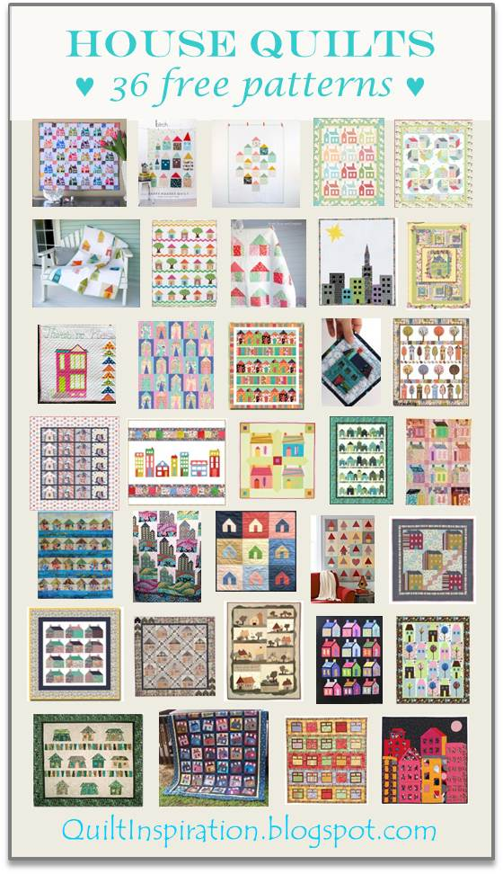 Quilt Inspiration: Free pattern day! House quilts : house quilt patterns - Adamdwight.com