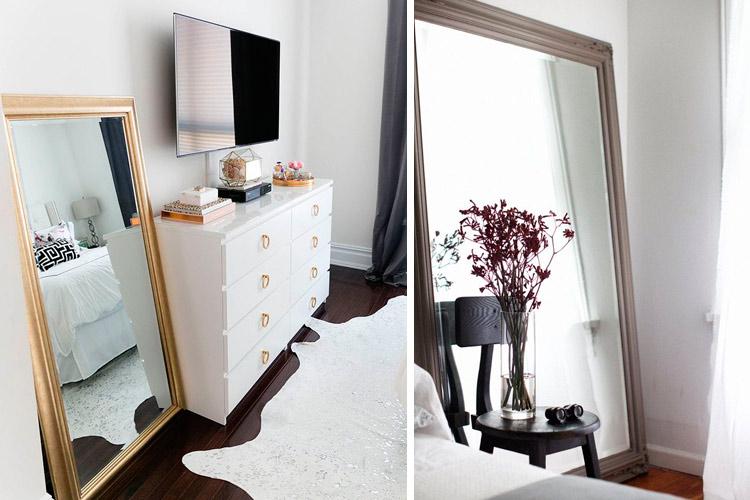 marzua c mo decorar con espejos apoyados en el suelo