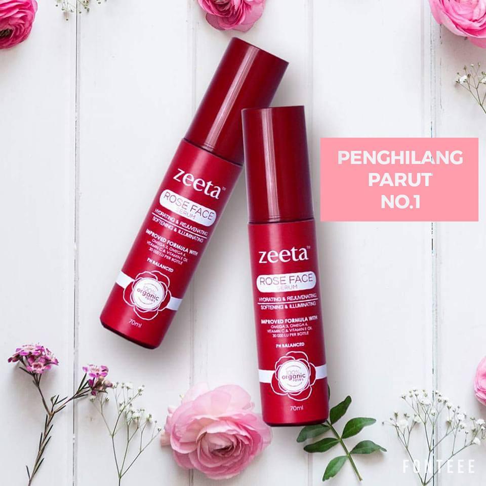 ROSE FACE SERUM ZEETA : SERUM PALING ORGANIK NO.1 DI MALAYSIA