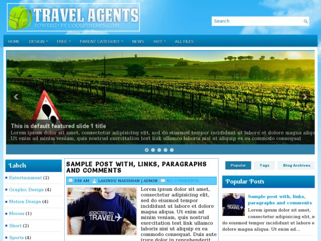 Travel Agents Blogger Template