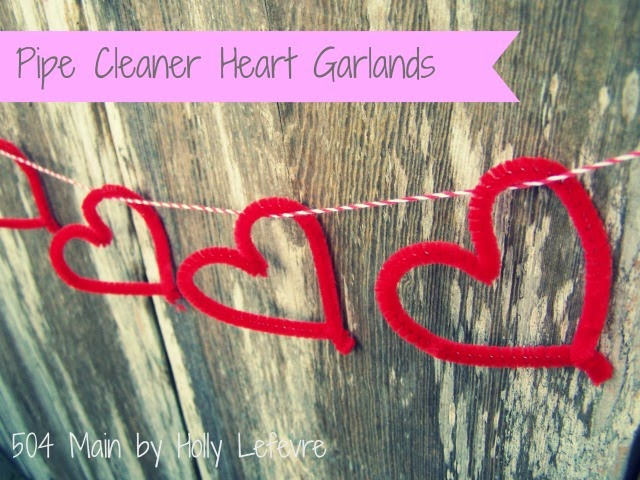 Pipe Cleaner Heart Garlands by 504 Main