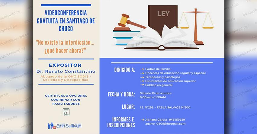 UGEL Santiago de Chuco organiza videoconferencia con el Centro Ann Sullivan