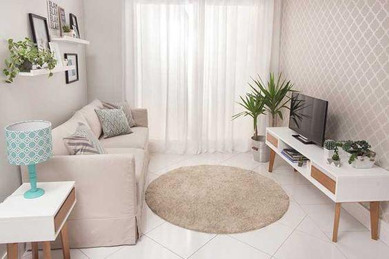 Decoração de sala de estar clara