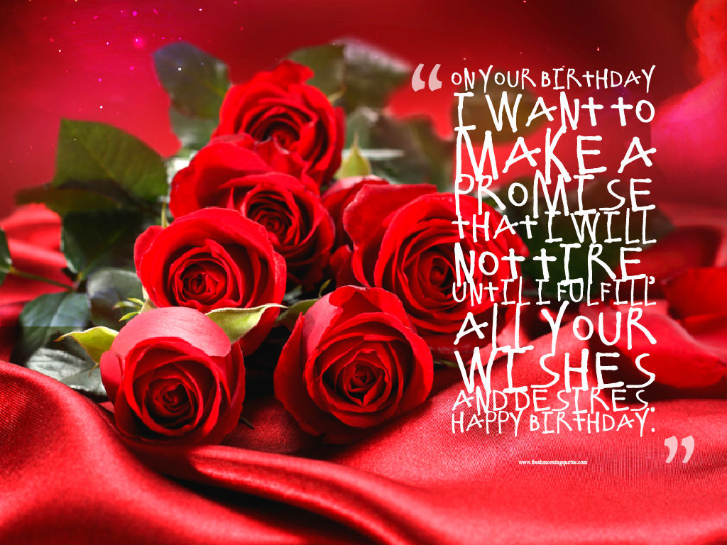beautiful red happy birthday rose wishes