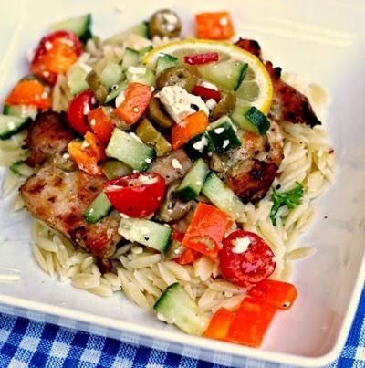 Grilled Greek Chicken Thighs by Renee's Kitchen Adventures