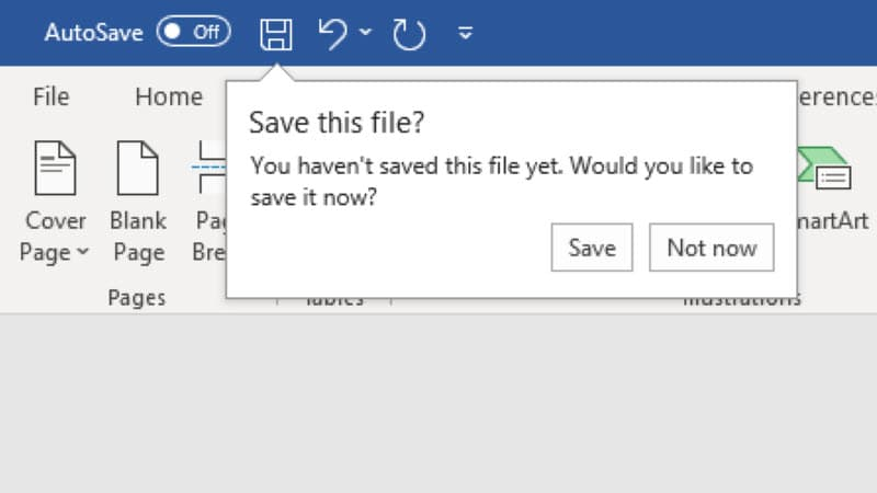 Microsoft Office for Windows will soon show smart save reminders (now available in Beta) for unsaved documents