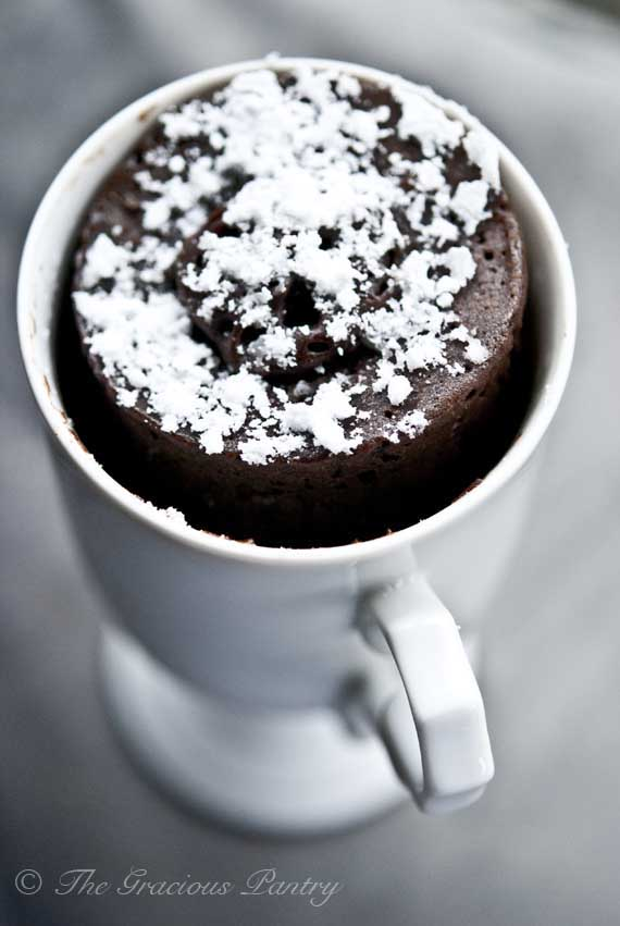 Oil Free Vegan Mug Bowl Cake