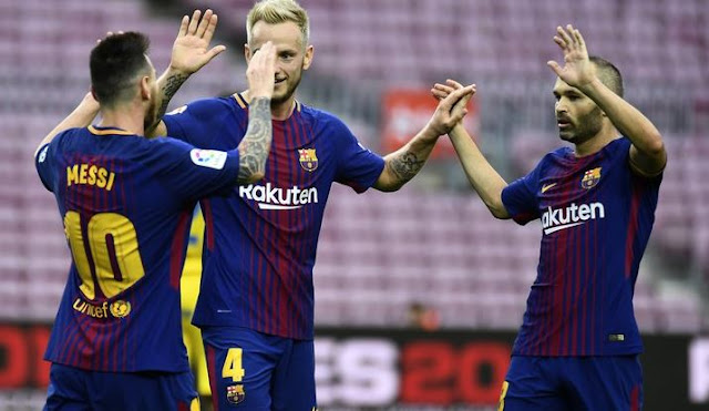 La Liga: Barcelona defeat Las Palmas in empty Camp Nou amid Catalonia clashes