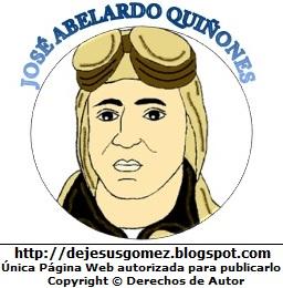 Dibujo de José Abelardo Quiñones con su nombre a color por Jesus Gómez