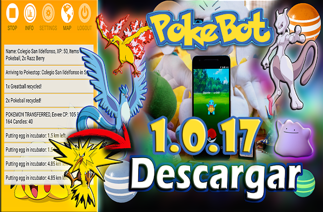 Pokemon Go - Pokebot se actualiza APK 1.0.17