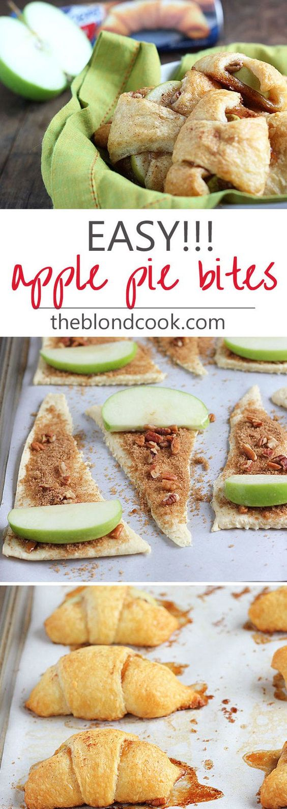 APPLE PIE BITES #apple #pie #bites #dessertrecipes #easydessertrecipes #cake #cakerecipes #applepie