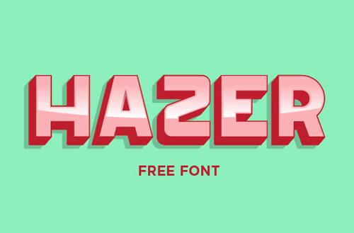 Font Commercial Gratis Terbaru Untuk Desainer Grafis - Hazer Typeface Free Font
