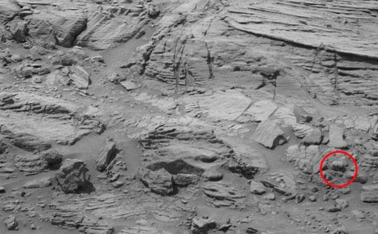 Urso polar em Marte na Cratera Gale