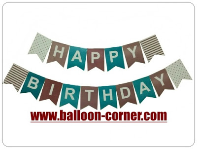 Bunting Flag Segilima HAPPY BIRTHDAY Warna Pastel