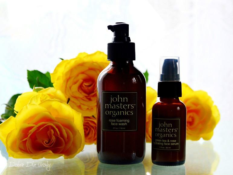 John Masters Organics Green Tea & Rose Hydrating Face Serum & Rose foaming face wash