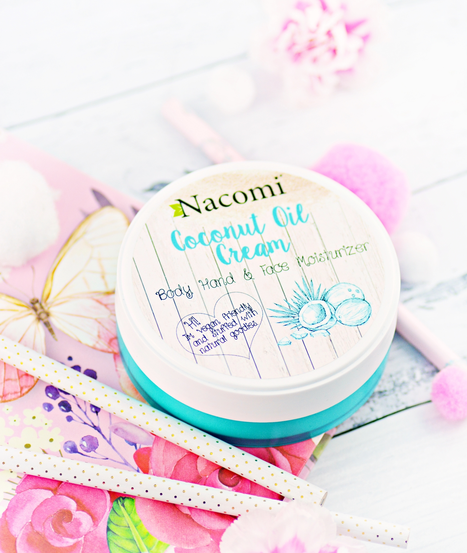 nacomi krem kokosowy, kokosowe kosmetyki, kosmetyki naturalne